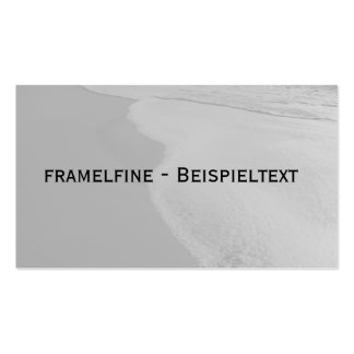 Visiting card with motive for beach business card