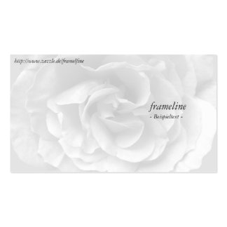 Visiting card with rose pack of standard business cards