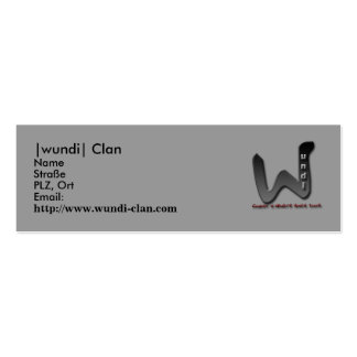 Visiting card, |wundi| clan business cards