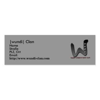 Visiting card, |wundi| clan business cards