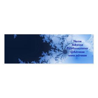 Visiting cards blue fraktal business card template