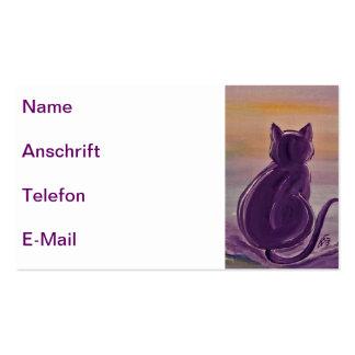Visiting cards Lavender Cat Pack Of Standard Business Cards