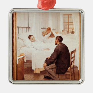 Visiting Day at the Hospital, 1889 Metal Ornament