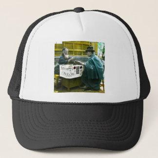 Visiting the Roadside Fortune Teller Old Japan Trucker Hat