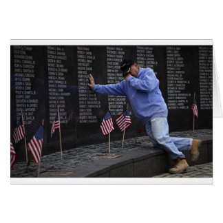 Visiting The Vietnam Memorial Wall, Washington DC. Card