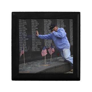 Visiting The Vietnam Memorial Wall, Washington DC. Gift Box