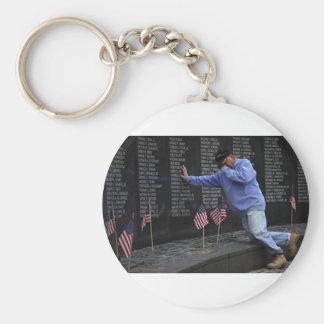 Visiting The Vietnam Memorial Wall, Washington DC. Key Ring