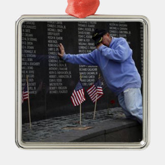 Visiting The Vietnam Memorial Wall, Washington DC. Metal Ornament