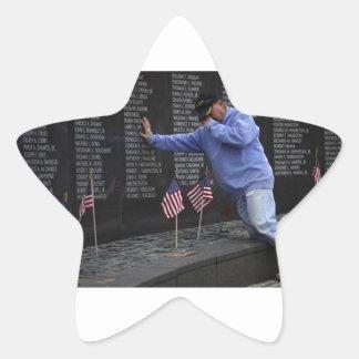 Visiting The Vietnam Memorial Wall, Washington DC. Star Sticker