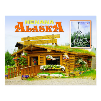 Visitor Center and Tripod, Nenana, Alaska Postcard