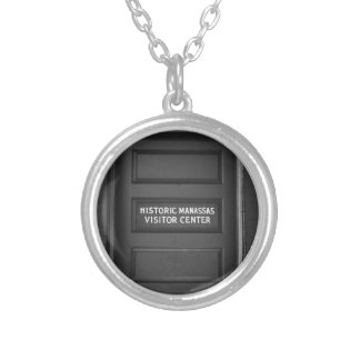 Visitor Center Silver Plated Necklace