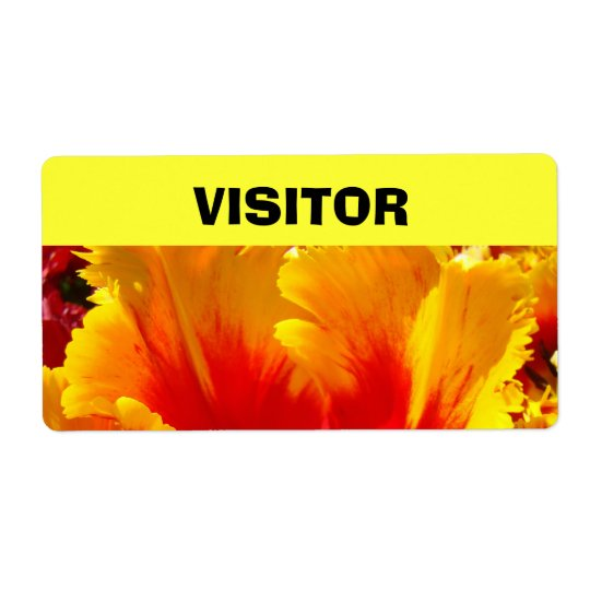 VISITOR Name tags Colourful Tulips Flower