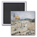 Visitors, Western Wall Plaza & Dome of the Rock Square Magnet