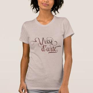 Vissi d'arte ornamental typographic light shirt