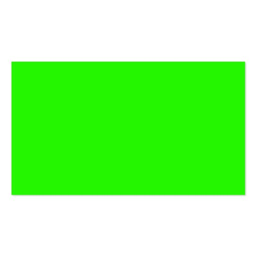 Visual Identifiers Nothing But Color Bright Green Business Card Templates