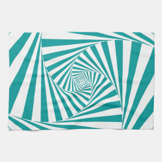 Visual Illusion Turquoise Kitchen Towels