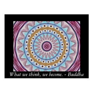 Visual Prayer Design with ZEN Buddhist Quote Postcard