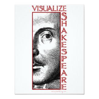 Visualize Shakespeare 11 Cm X 14 Cm Invitation Card