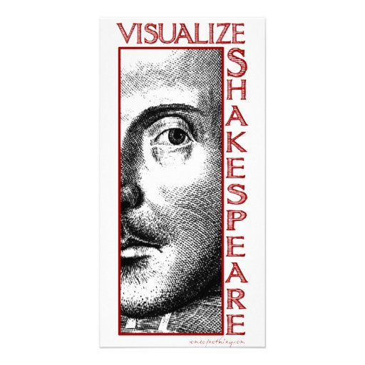 Visualize Shakespeare Photo Card