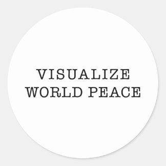 Visualize World Peace Round Sticker