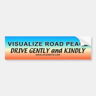 VisualizeRoadPeace.. Bumper Sticker