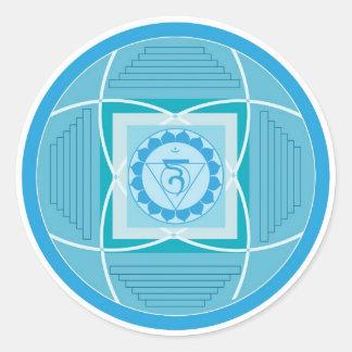 Visuddha Chakra Mandala Classic Round Sticker