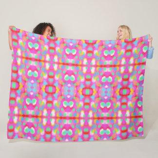 Vital, friendly spring colors fleece blanket