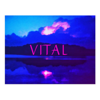 VITAL Heat Lightning Postcard