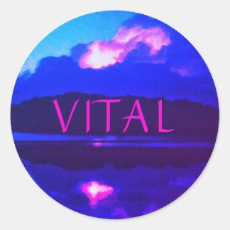 VITAL PINK LIGHTNING STICKER