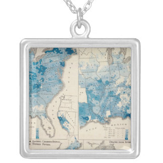 Vital statistics, United Census Silver Plated Necklace