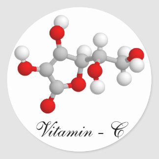 Vitamin C Classic Round Sticker