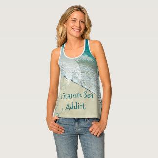 Vitamin Sea Addict Tropical Beach Singlet