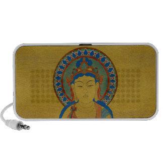 Vitarka Mudra Buddha Doodle Speaker Bamboo Backgr