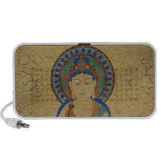 Vitarka Mudra Buddha Doodle Speaker Crackle Backgr