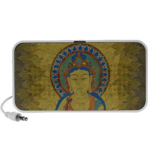 Vitarka Mudra Buddha Doodle Speaker Maple Leaf