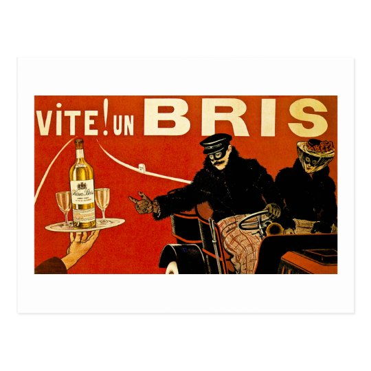 Vite! Un Brie - Vintage French Advert Postcard