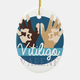 Vitiligo Awareness Ceramic Ornament