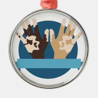Vitiligo Awareness Metal Ornament