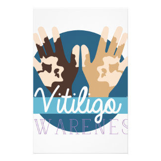 Vitiligo Awareness Stationery Paper