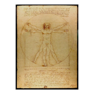 Vitruve Luc Viatour by Leonardo da Vinci Poster