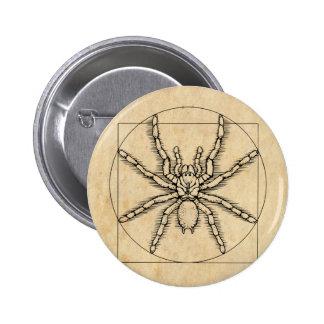 Vitruvian Arachnid 6 Cm Round Badge