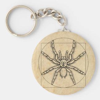 Vitruvian Arachnid Basic Round Button Key Ring