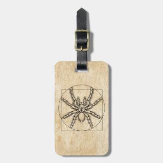 Vitruvian Arachnid Luggage Tag