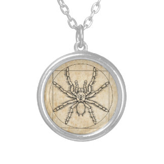 Vitruvian Arachnid Silver Plated Necklace