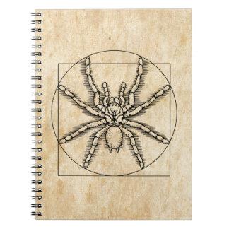 Vitruvian Arachnid Spiral Notebook