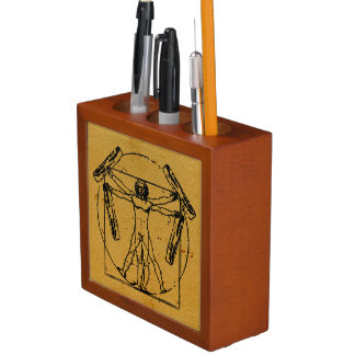 Vitruvian Bacon Man Desk Organiser