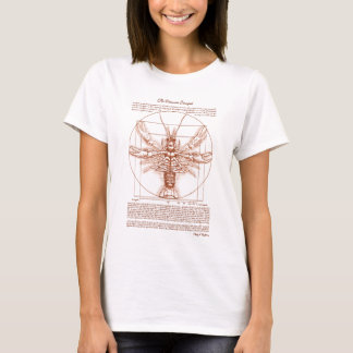 Vitruvian Crawfish Rust Color T-Shirt