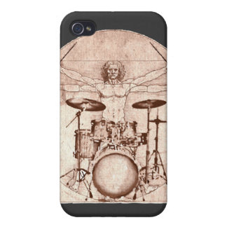 Vitruvian Drummer Case For The iPhone 4