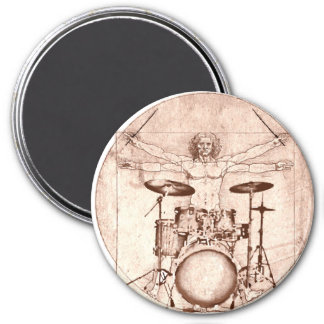 Vitruvian Drummer Magnet