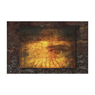 Vitruvian Man And Human Eye Poster Stretched Canvas Print